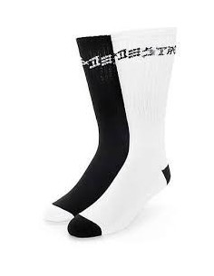 CALCETINES HUF X THRASHER LOGO CREW SOCKS BLACK