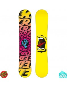Tabla de Snowboard Santa Cruz Screaming Hand Yellow