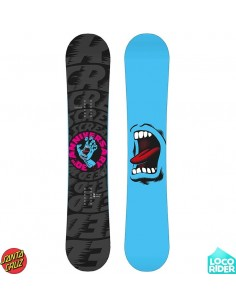 Tabla de Snowboard Santa Cruz Screaming Hand Black