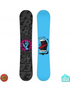 Tabla de Snowboard Santa Cruz Screaming Hand Black