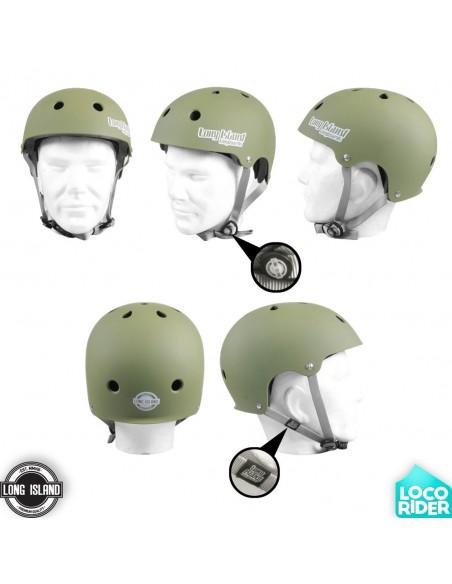 Long Island EPS Green Longboard Helmet
