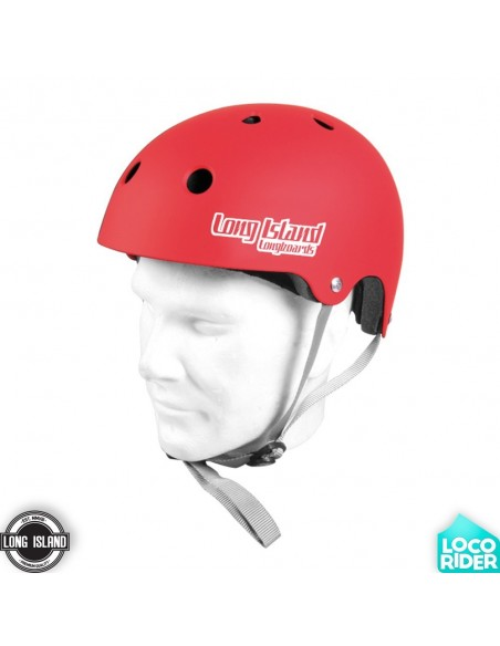 Long Island EPS Red Longboard Helmet