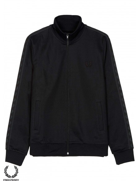 Fred Perry Sports Authentic Taped Track Negra