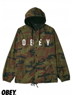 OBEY Anyway Hooded Coaches Camo