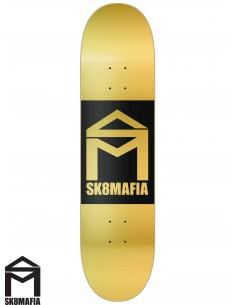 SK8MAFIA House Logo Gold Double Dip 8.0