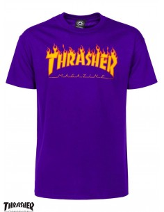 Thrasher Flame Logo Purple