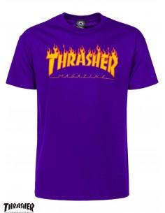 Thrasher Flame Logo Púrpura