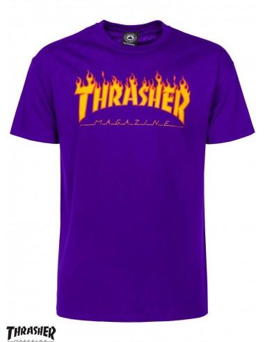 68baa1f5d1e Thrasher Flame Logo Purple T-Shirt
