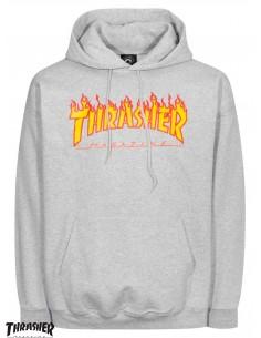 Thrasher Flame Logo Cinza