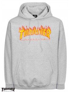 Thrasher Flame Logo Grau