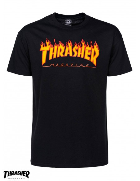 Thrasher Flame Logo Black
