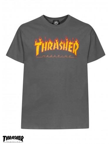 680997ea1 Camiseta Thrasher Flame Logo Charcoal