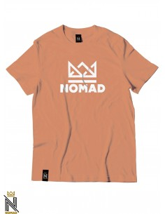 Nomad Tee Crown Peach White