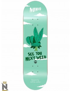 Nomad Skateboards Role Models Next Weed 7.875