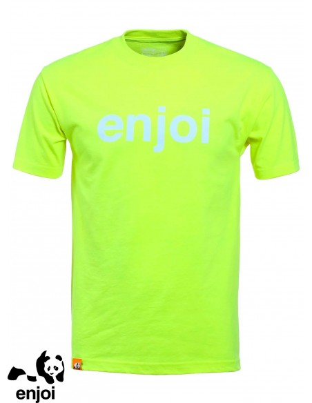 Enjoi Helvetica Logo Safety Green