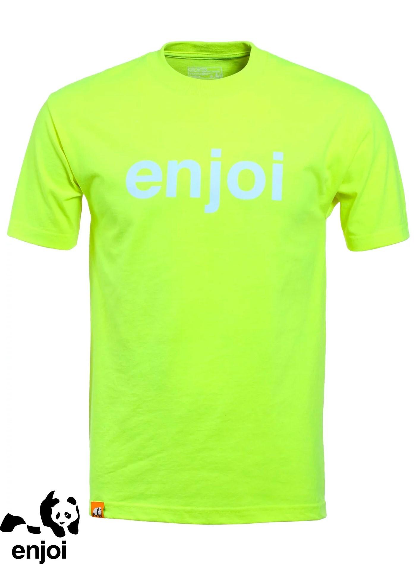 Enjoi Helvetica Logo Lime T-Shirt