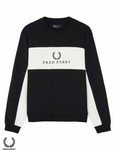 design di qualità 02e62 d48cd Felpa Fred Perry Sports Authentic Piped Jacket Nero