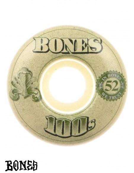BONES WHEELS 100'S OG V4 52mm