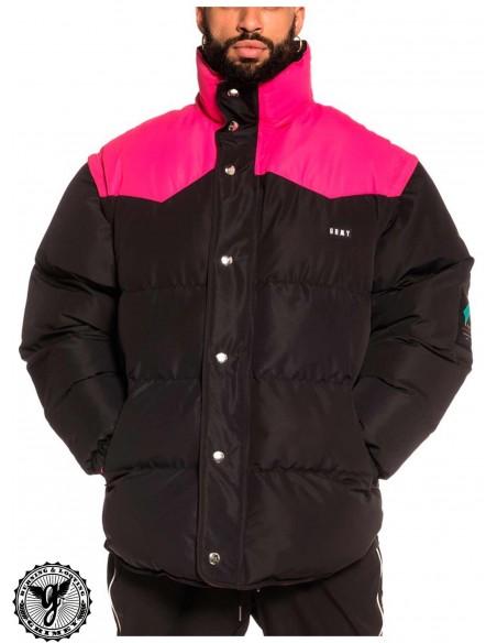 Grimey Pantera V8 Puffy Jacket Negra