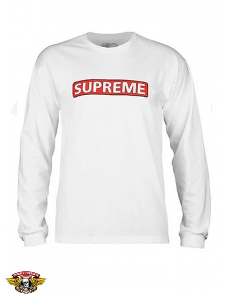 Powell Peralta x Supreme L/S Blanco