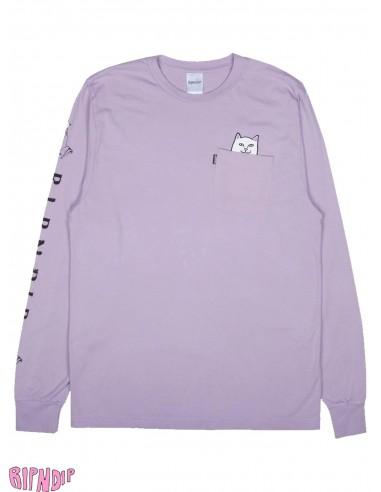 337111349bdf Ripndip Lord Nermal Ls Lavender Long Sleeve T-Shirt