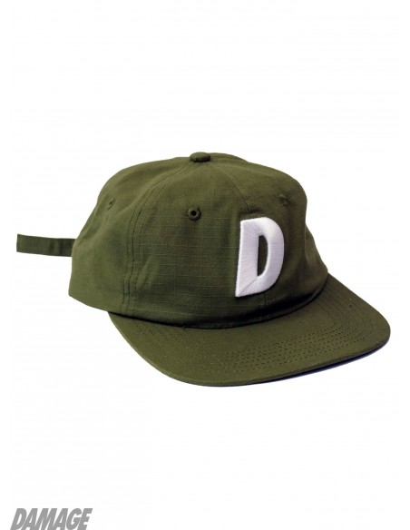 Damage Ripstop Six Panel Verde