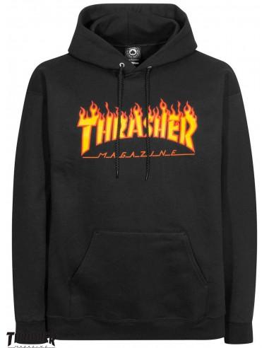 Thrasher Flame Logo Schwarz Hoodie 66775000ddf9