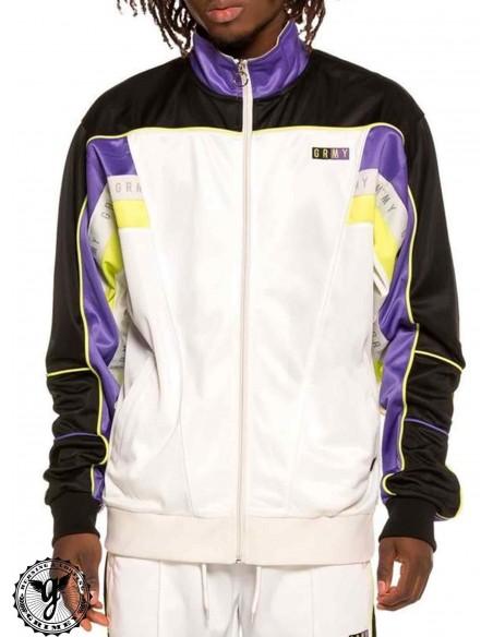 Grimey F.A.L.A. Poly Track Jacket White