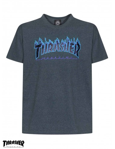 14aa4212901f Thrasher Flame Logo Dark Heather T-Shirt