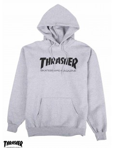 Thrasher Flame Logo Grey