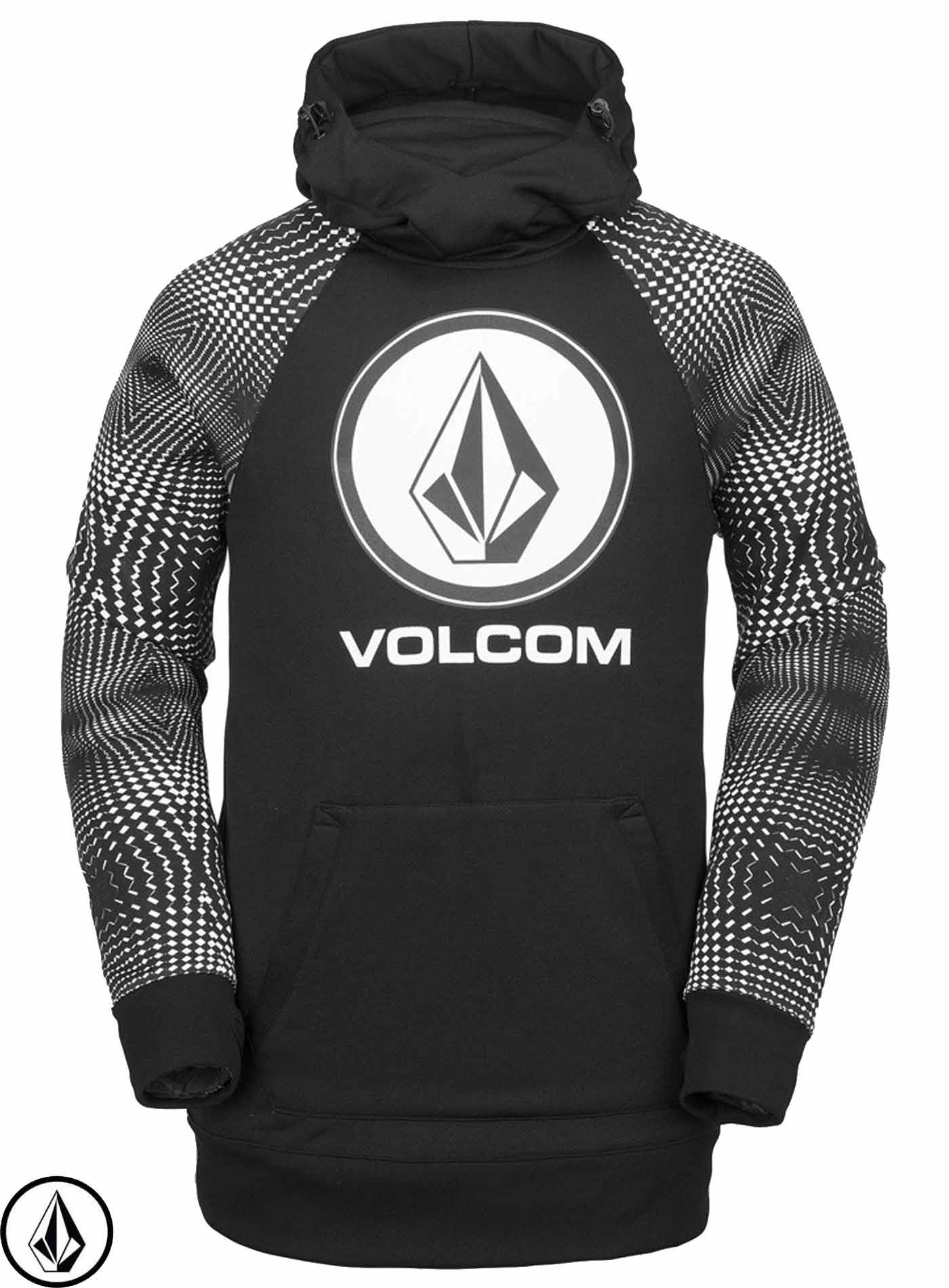 free delivery buying now detailing Volcom Hydro Riding Black White Hoodie