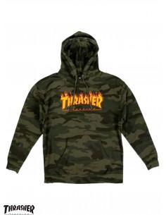 Thrasher Flame Logo Camo Hoodie