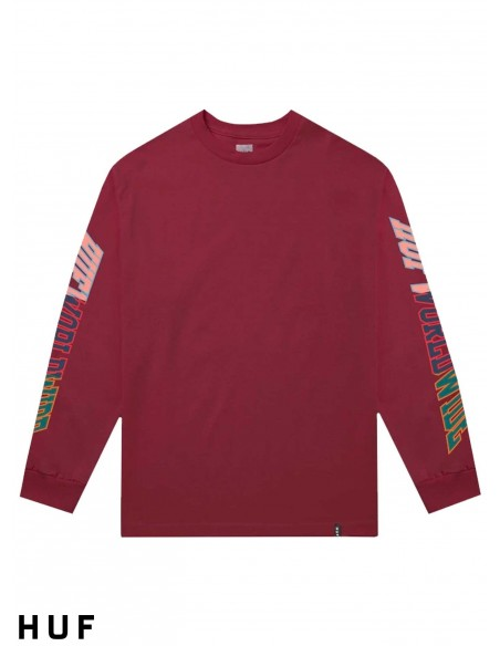 T-Shirt Manches Longue HUF Suspension Classic Red Pear