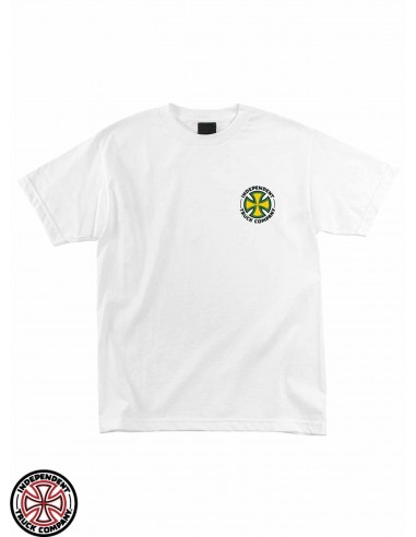T-Shirt Independent Repeat Cross Bianco