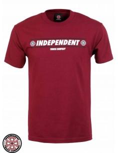 Camiseta Independent Shear Burgundy