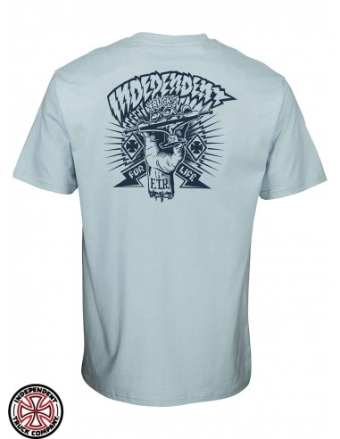 Independent Ripped Work Blue T-Shirt