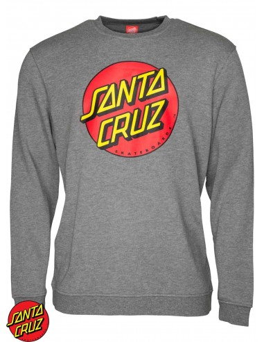 Santa Cruz Classic Dot Grau Sweatshirt
