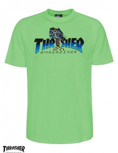 Thrasher Leopard Mag Mint T-Shirt