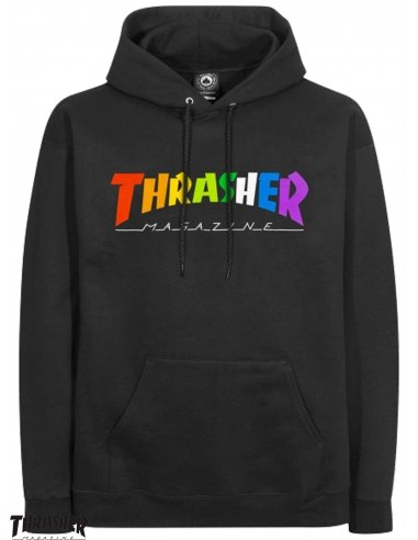 Thrasher Rainbow Mag Black Hoodie