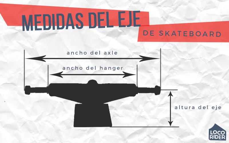 Ancho y alto del eje de skate