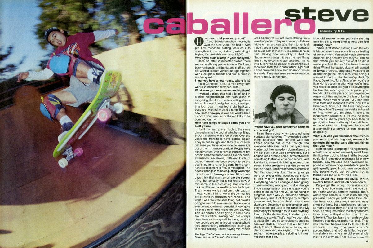 Steve Caballero entrevista thrasher