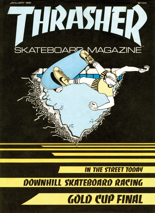 1981, thrasher magazine primera portada