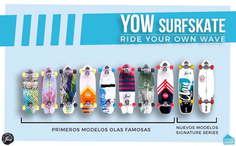 Todos los modelos de Surfskate YOW en LocoRider.com YOW Surfskate Clay Marzo