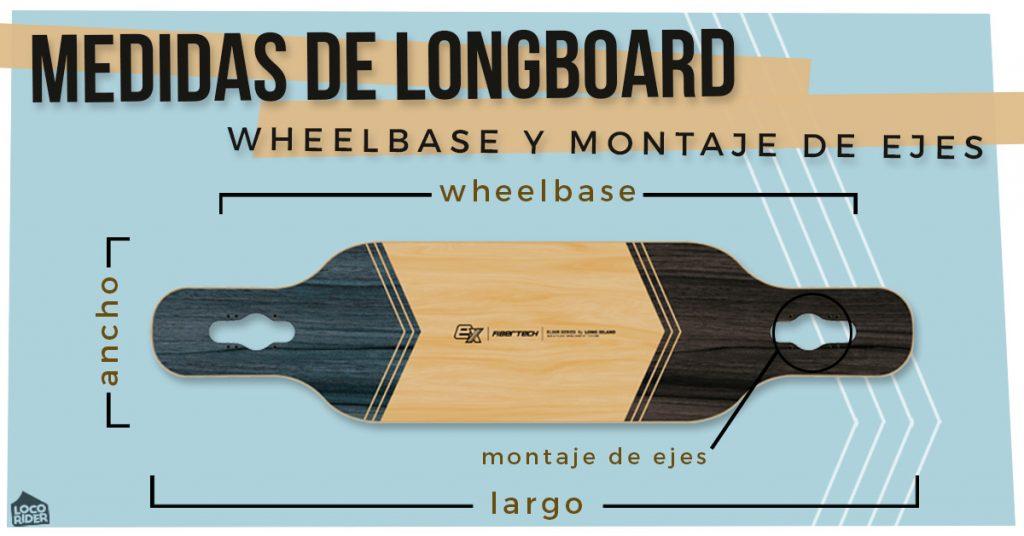 Medidas longboard – Wheelbase y tipos de montaje