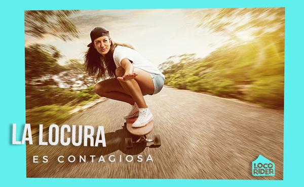 Contágiate con la fiebre de Loco Rider. Tablas de skate. Guía de skate. deck. Locura