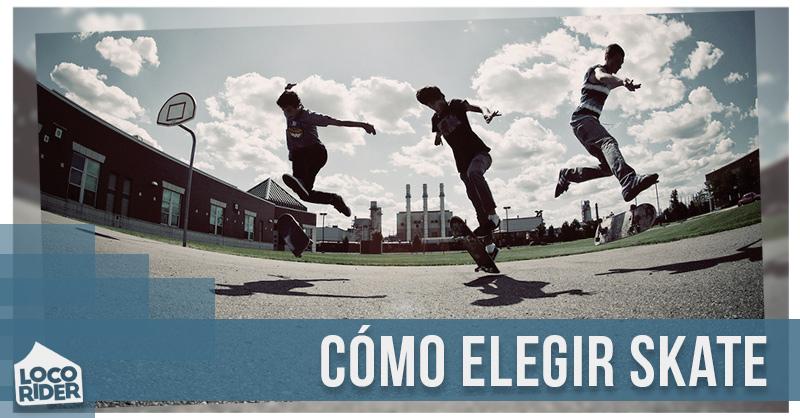 Cómo elegir skate. Guía de compra de skateboard para iniciación.