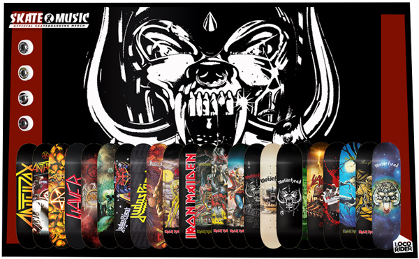 Tablas de skate SKATE AND MUSIC. Ruedas de skate SKATE AND MUSIC